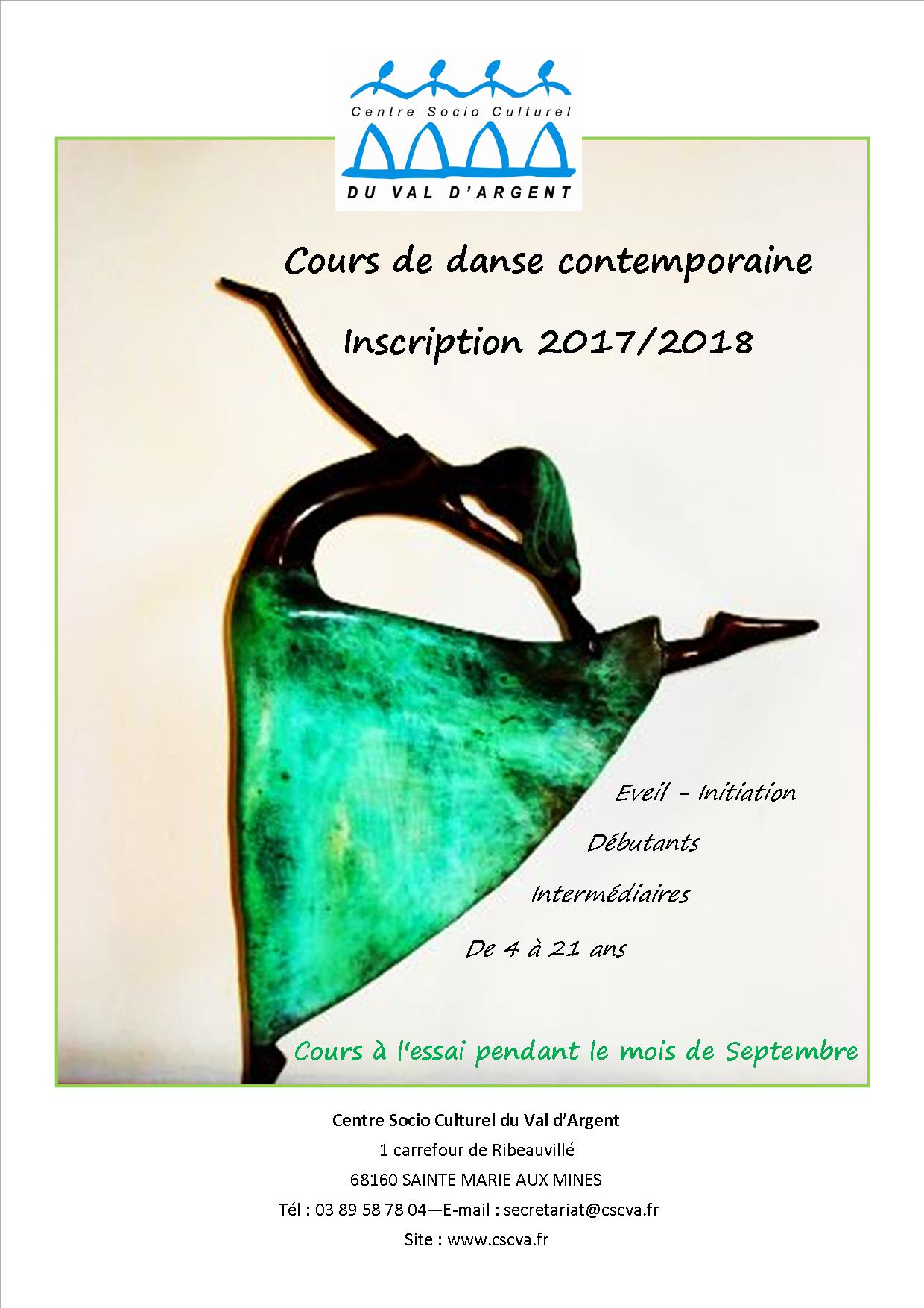INSCRIPTION DANSE 2017 2018