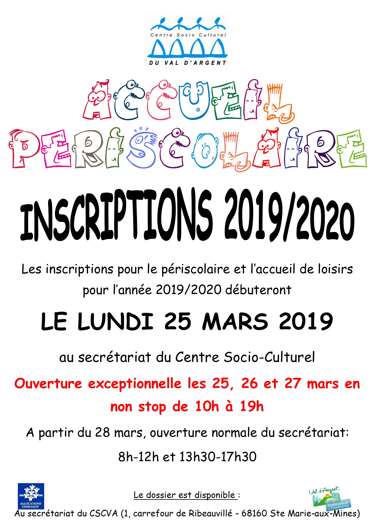 Affiche inscription